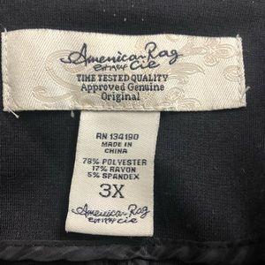 American Rag Jackets & Coats - Women's Plus Size 3X Black Stretch Blazer Top